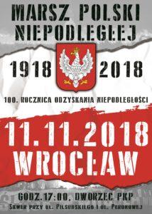 Marsz Polski Niepodległej 11 listopada 2018 - Wrocław