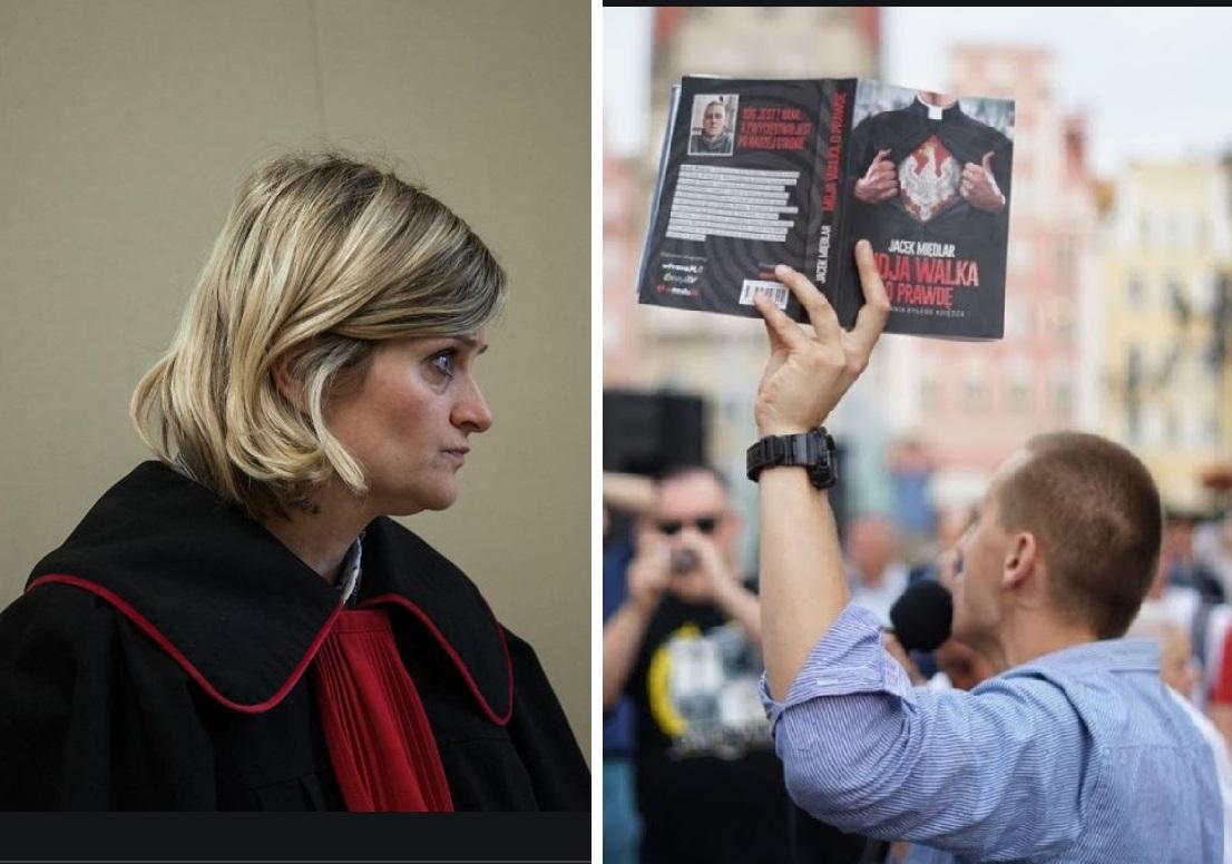 Od lewej: prokurator Małgorzata Szymańska i Jacek Międlar podczas spotkania autorskiego