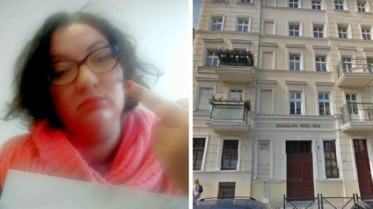 Po lewej Marta Lempart, po prawej kamienica przy Ulicy B. Prusa 38-40 we Wrocławiu / Fot. Facebook i Google Maps