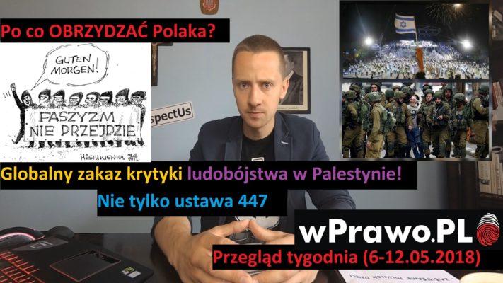 OBRZYDZIĆ Polaka i globalny zakaz krytyki Izraela - Przegląd tyg. (6-12.2018)